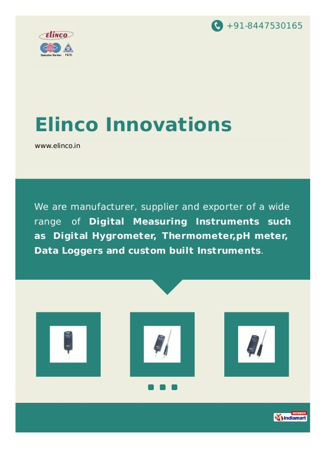 +91-8447530165 Elinco Innovations www.elinco.in We are manufacturer, supplier and exporter of a wide range of Digital Meas...