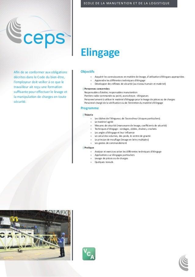 Ecole de la manutention et de la logistique                                         ElingageAfin de se conformer aux oblig...
