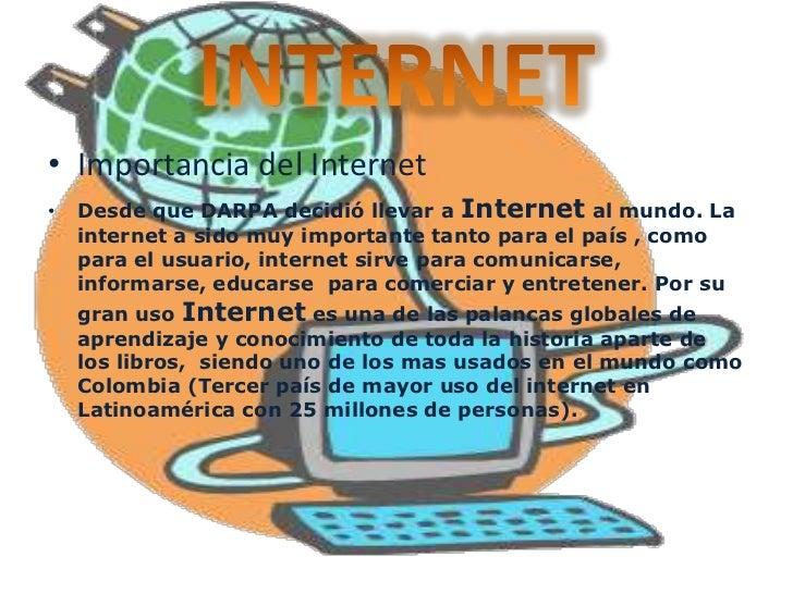 Concepto de Internet•   Es un conjunto descentralizado de redes de comunicación    interconectadas que utilizan la familia...