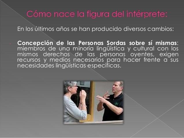 El intérprete de lengua de señas Slide 3