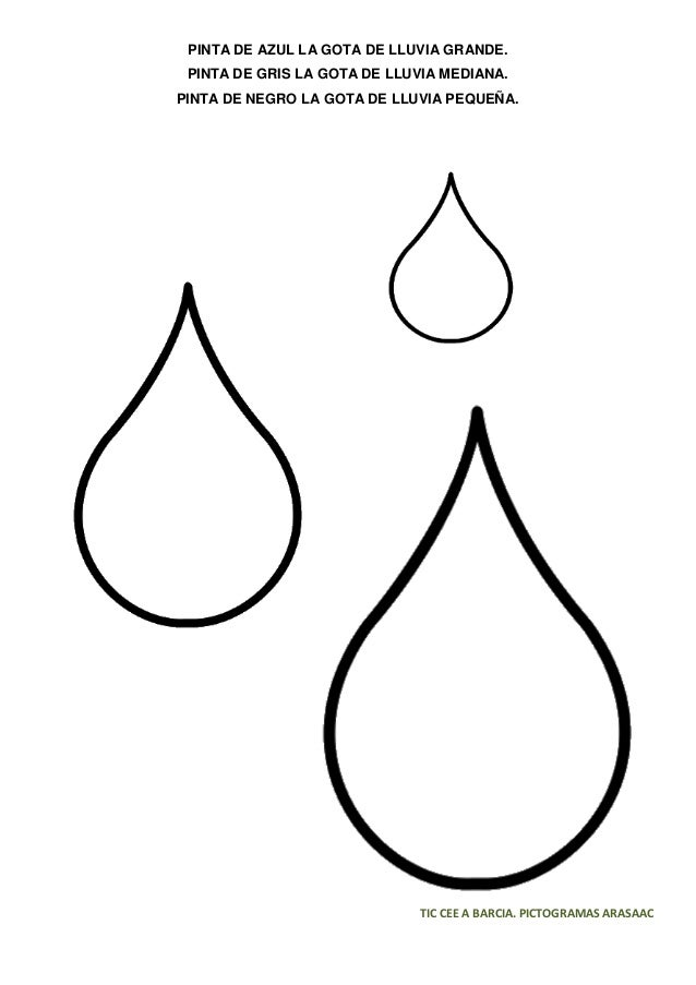 gotas de agua para colorear - Yelom.digitalsite.co