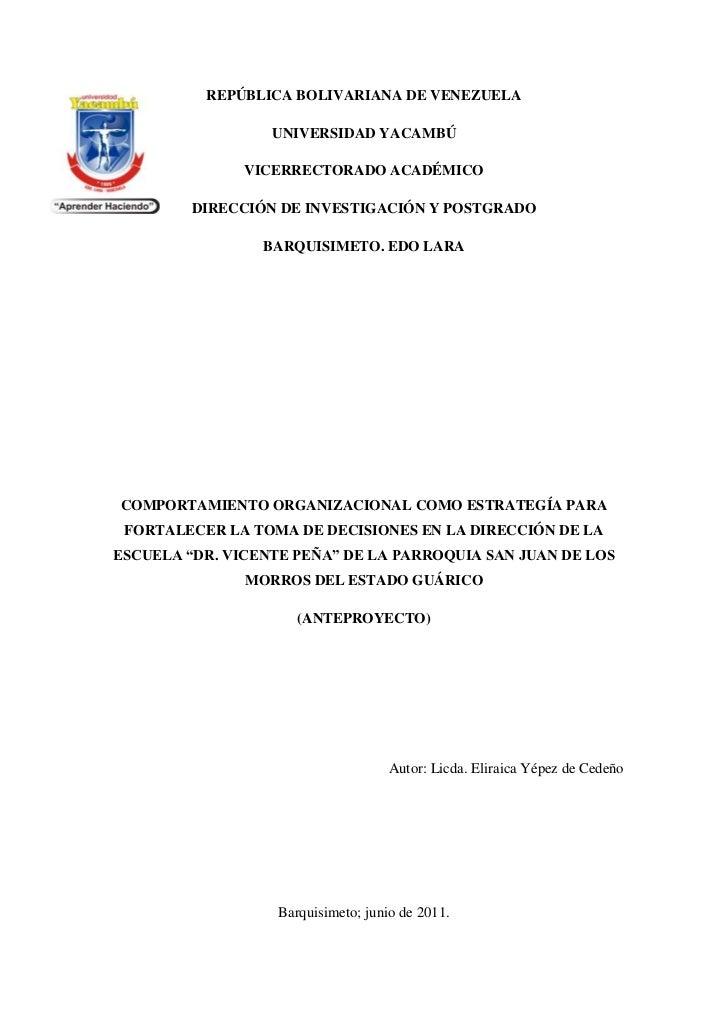 -57531081281REPÚBLICA BOLIVARIANA DE VENEZUELA<br />UNIVERSIDAD YACAMBÚ<br />VICERRECTORADO ACADÉMICO<br />DIRECCIÓN DE IN...