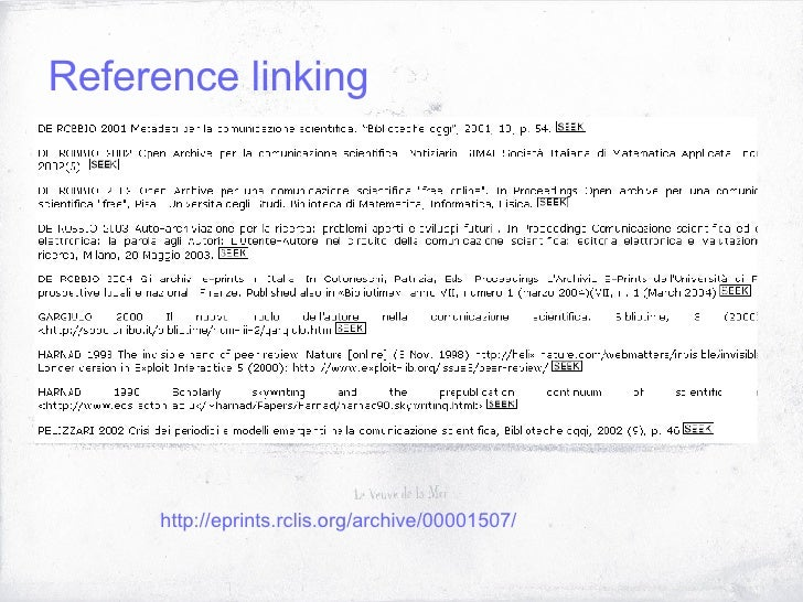 Reference linking http://eprints.rclis.org/archive/00001507/