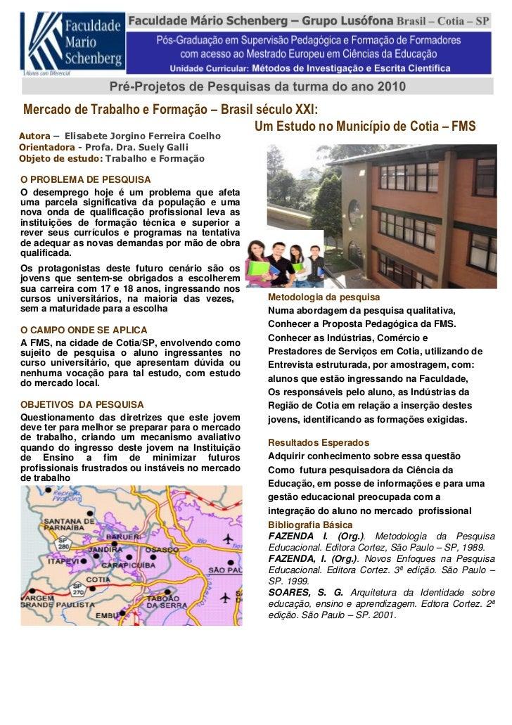 Mercado de Trabalho e Formação – Brasil século XXI:                                         Um Estudo no Município de Coti...