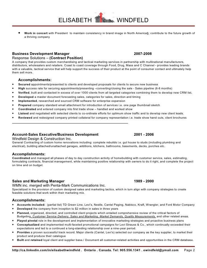 Developed Growth Plan Resume