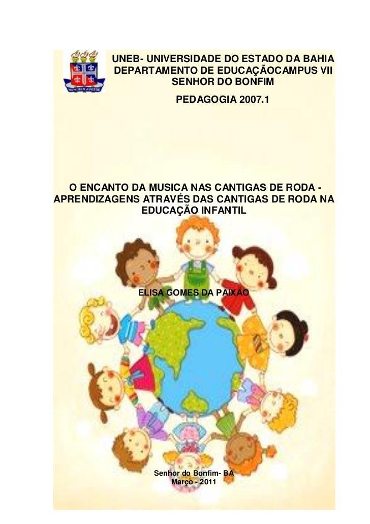 UNEB- UNIVERSIDADE DO ESTADO DA BAHIA         DEPARTAMENTO DE EDUCAÇÃOCAMPUS VII                   SENHOR DO BONFIM       ...