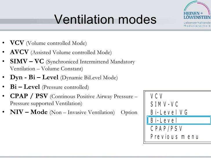 ventilator modes in icu pdf