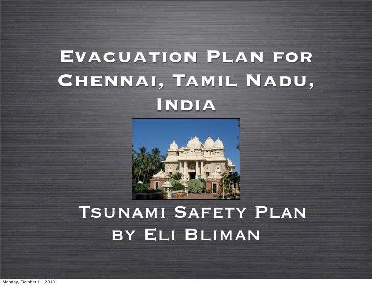 Evacuation Plan for                            Chennai, Tamil Nadu,                                   India               ...