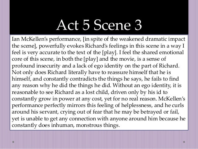 the dramatic significance of act 3 4 of richard iii essay Read richard iii alongside a modern english translation  the characters in  richard iii and in-depth analyses of richard iii, the princes, and margaret   here's where you'll find analysis about the play as a whole, from the major  themes  find the quotes you need to support your essay, or refresh your  memory of the play.