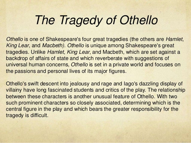 summary of othello in short