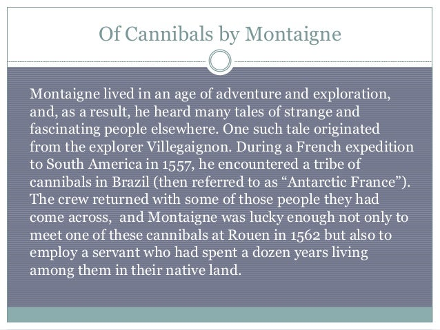 montaigne essay cannibals