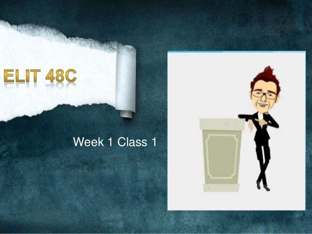 Week 1 Class 1