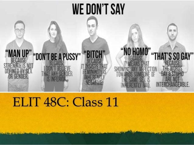 ELIT 48C: Class 11