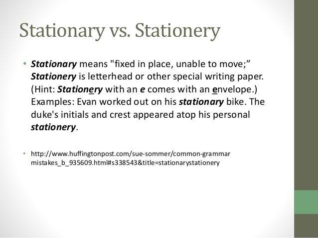 Elit 48 c class 11 post qhq stationary vs stationery