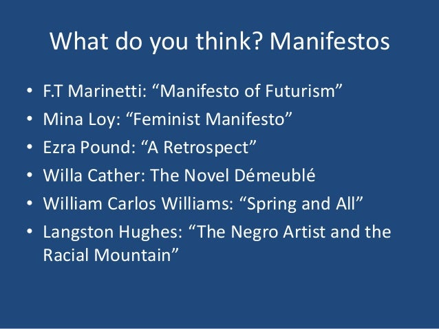 """a literary analysis of feminist manifesto by mina loy 5 mina loy, """"feminist manifesto,"""" in the lost  maternity in the """"feminist manifesto,"""" that loy employs the reproductive  in-conference."""