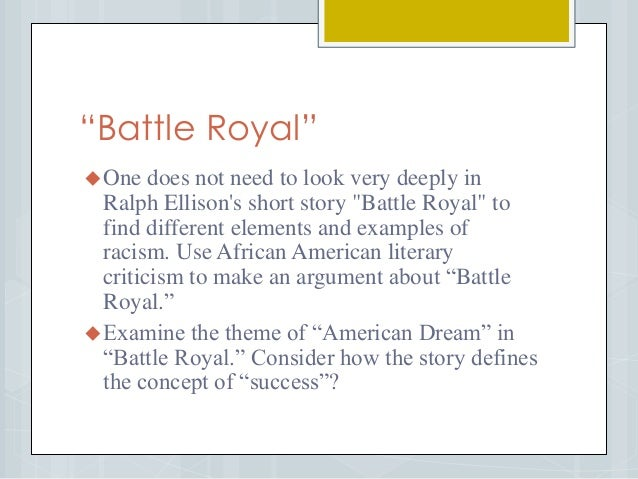 Battle royal essay