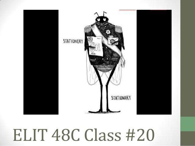 ELIT 48C Class #20