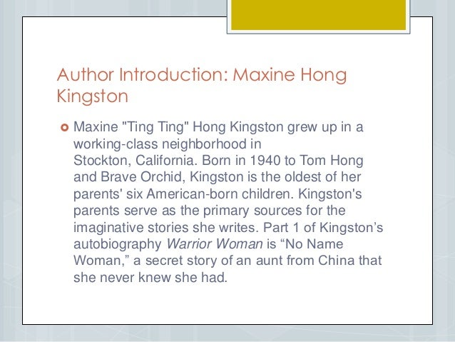 gender stereotyping and sexism in chinese culture in the woman warrior by maxine hong kingston Maxine hong kingston  the woman warrior:  known for her large photograph-and-text works that challenge conventional views of gender, race, identity, culture,.