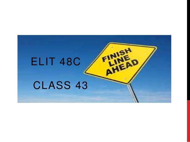 CLASS 43 ELIT 48C