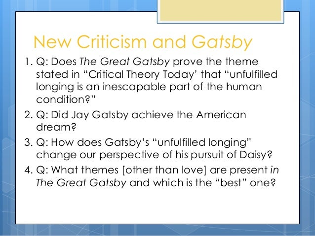 the great gatsby critical analysis