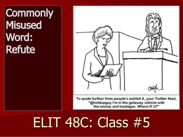 ELIT 48C: Class #5