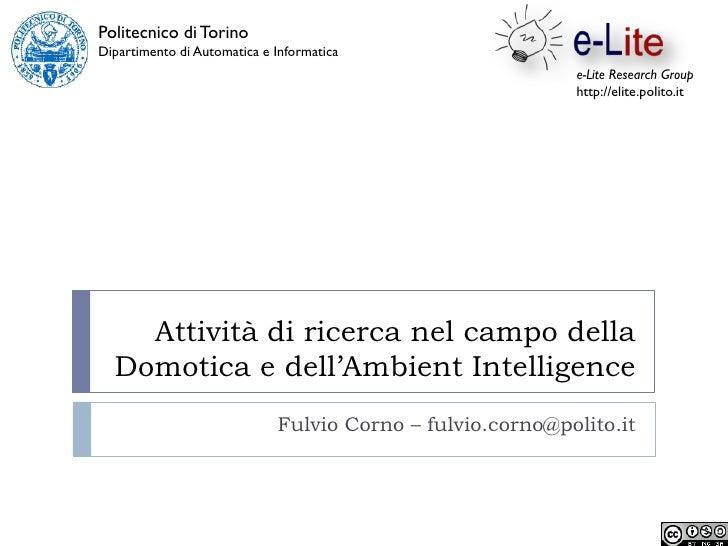 Politecnico di Torino Dipartimento di Automatica e Informatica                                                            ...