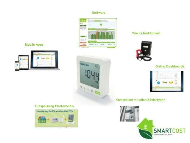 E2 Energiemonitor • Verbrauchsdaten auf Software laden und auswerten • Energieverbrauch und Energiekosten in Echtzeit sehe...
