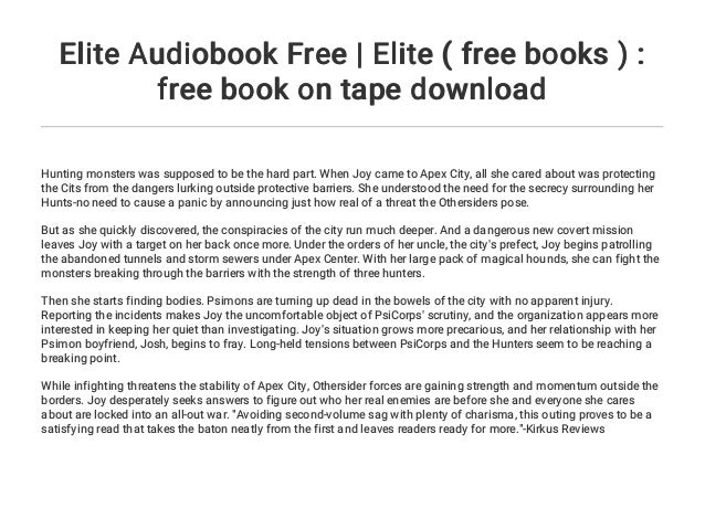 Elite Audiobook Free | Elite ( free books ) : free book on