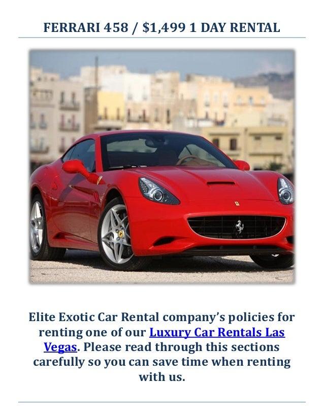 Elite Exotic Car Rental