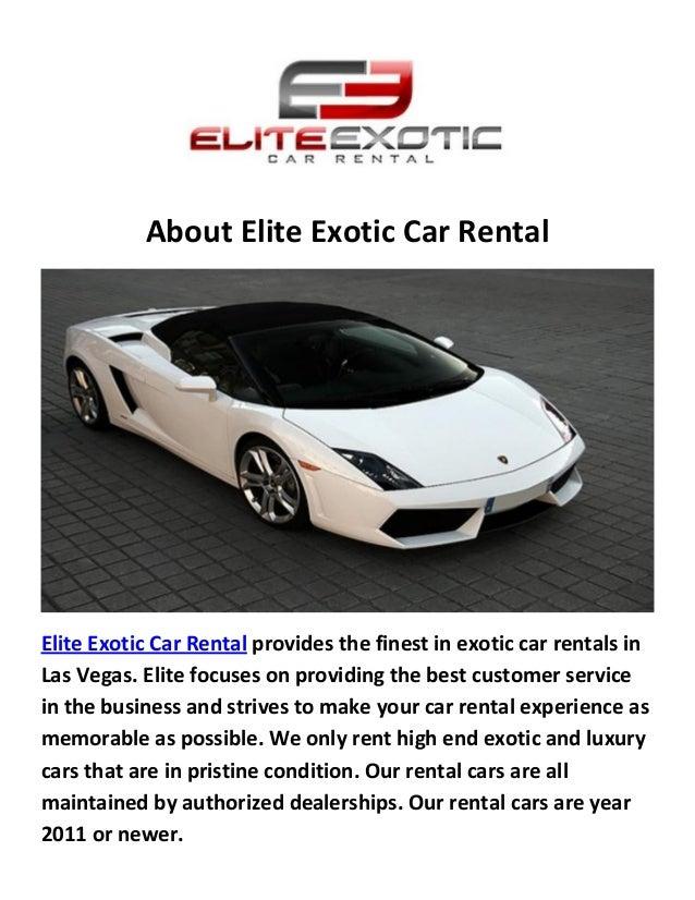 Elite Exotic Luxury Car Rental Las Vegas