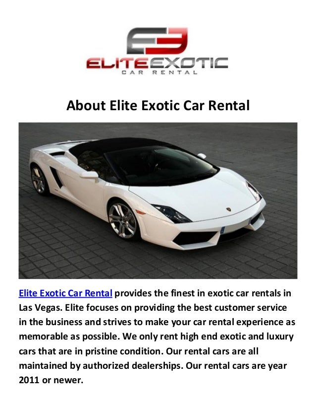 About Elite Exotic Car Rental Elite Exotic Car Rental Provides The Finest  In Exotic Car Rentals Luxury Car Rental Las Vegas ...