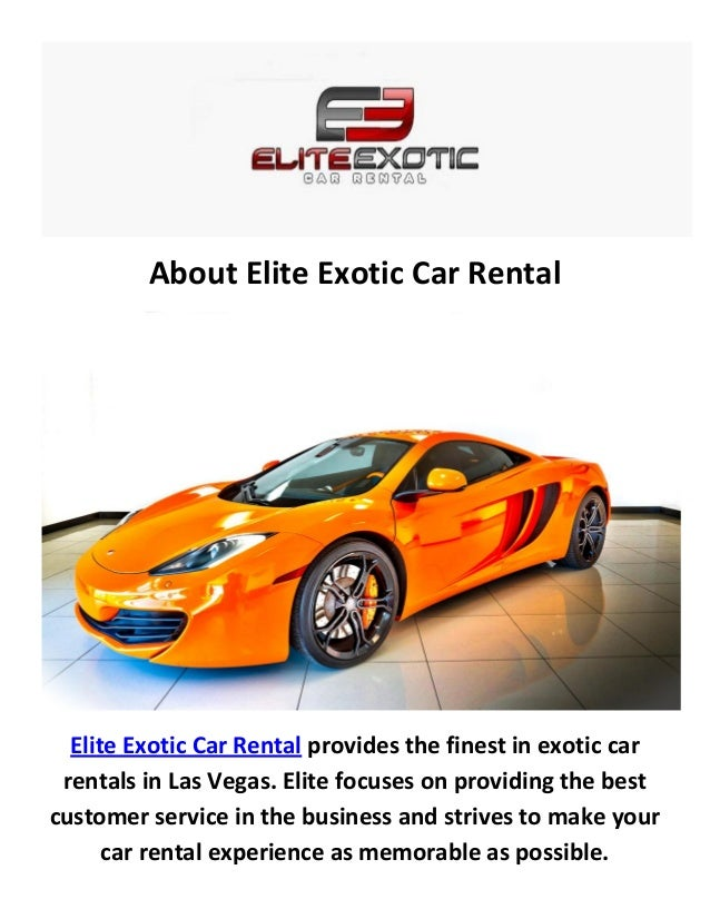 About Elite Exotic Car Rental Elite Exotic Car Rental Provides The Finest  In Exotic Car Rentals Luxury Car Rentals Las Vegas ...
