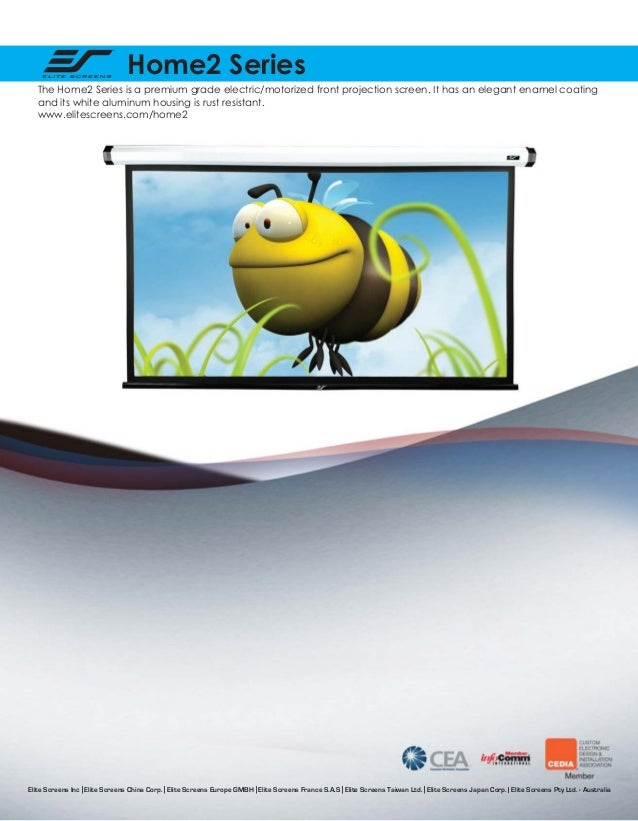 Home2 Series The Home2 Series is a premium grade electric/motorized front projection screen. It has an elegant enamel coat...