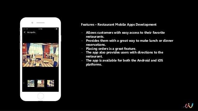 Restaurant mobile apps development in india elite infoworld