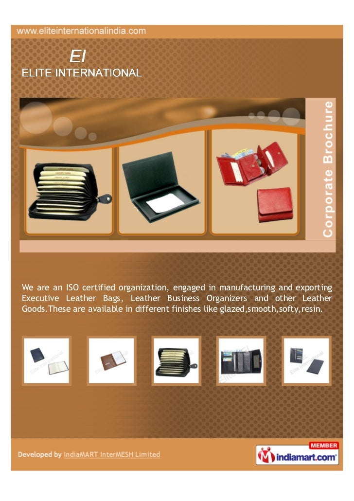 We are an ISO certified organization, engaged in manufacturing and exportingExecutive Leather Bags, Leather Business Organ...