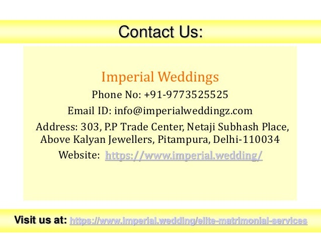 Professional Elite Matrimony Services in Delhi Slide 3