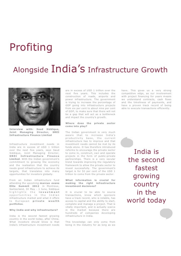 Profiting Alongside India's Infrastructure Growth - Interview: Saud S…