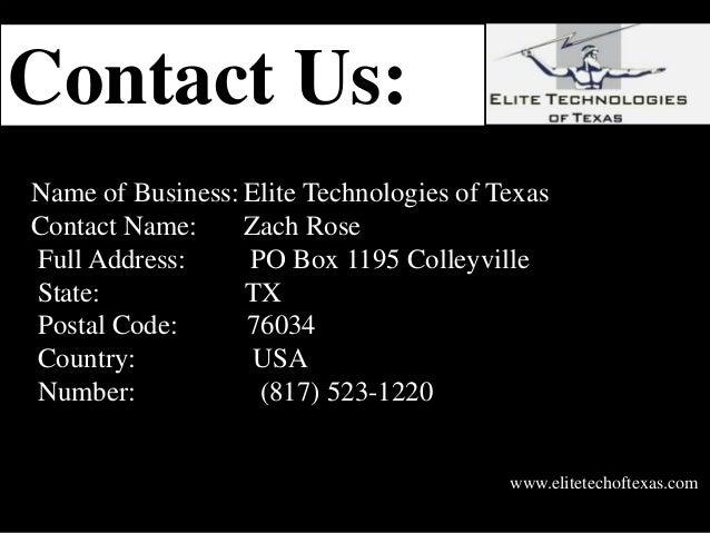 Elite Technologies Of Texas
