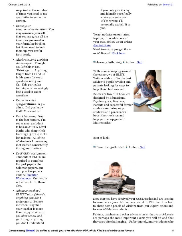 Elite tuition ebook maths tutors with 100 success rate you will be 5 fandeluxe Image collections