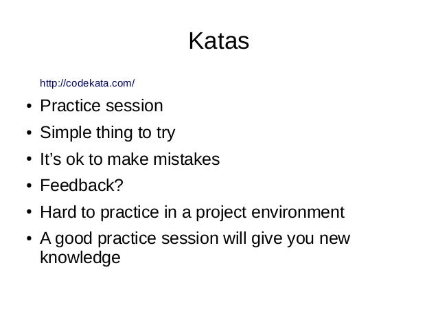 Where can we found Katas and/or Koans in Elixir? ● Katas – https://www.codewars.com – http://exercism.io/languages/elixir/...