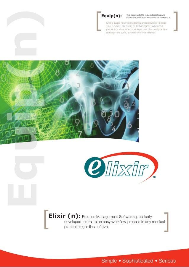 Elixir Brochure Practice Management Software