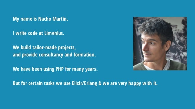 My name is Nacho Martín. I write code at Limenius. We build tailor-made projects, and provide consultancy and formation. W...