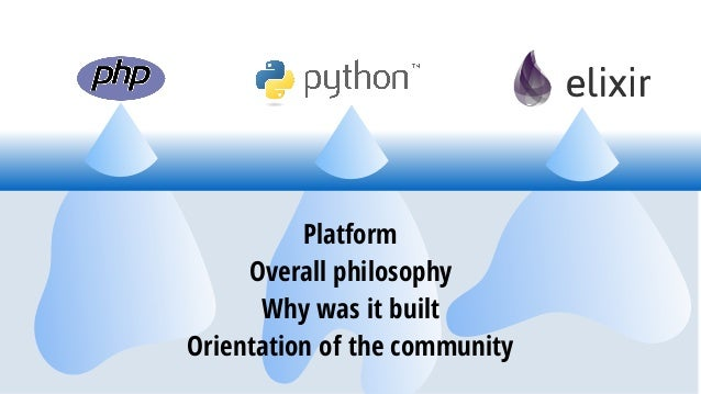 Platform Overall philosophy Why was it built Orientation of the community