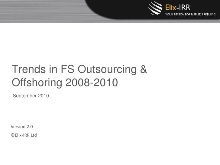 Elix Irr Research Trends In Fs Outsourcing V2.0