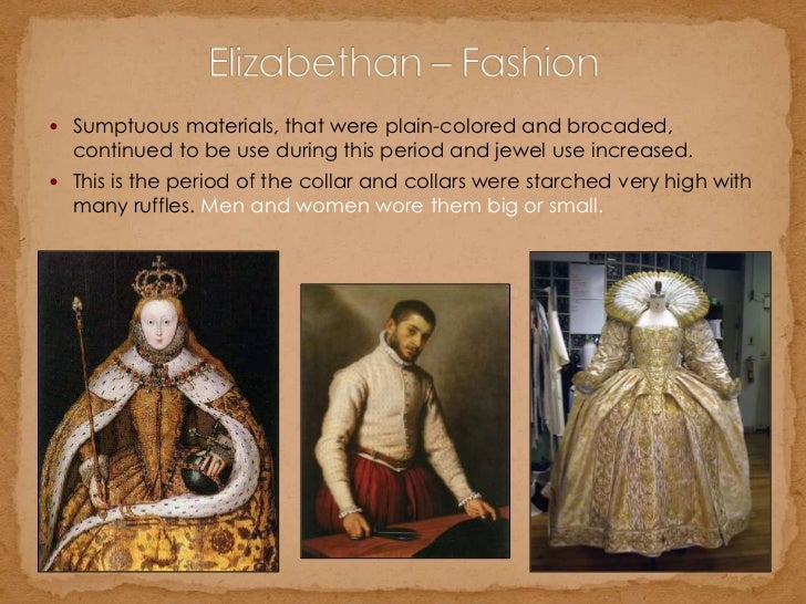 an introduction to the elizabethan fashion during the elizabethan era An introduction to the elizabethan fashion during the elizabethan era pages 8 words 1,912 view full essay more essays like this: england, 16th century, elizabethan.