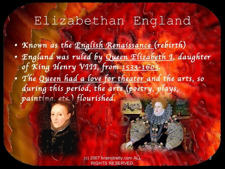 what was the elizabethan period