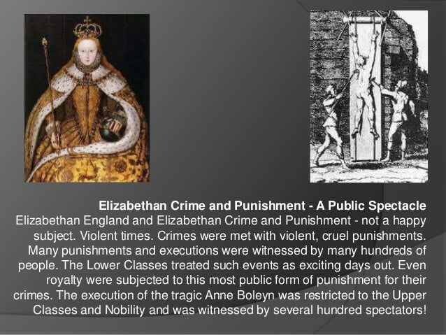 crime and punishment in the elizabethan era essay