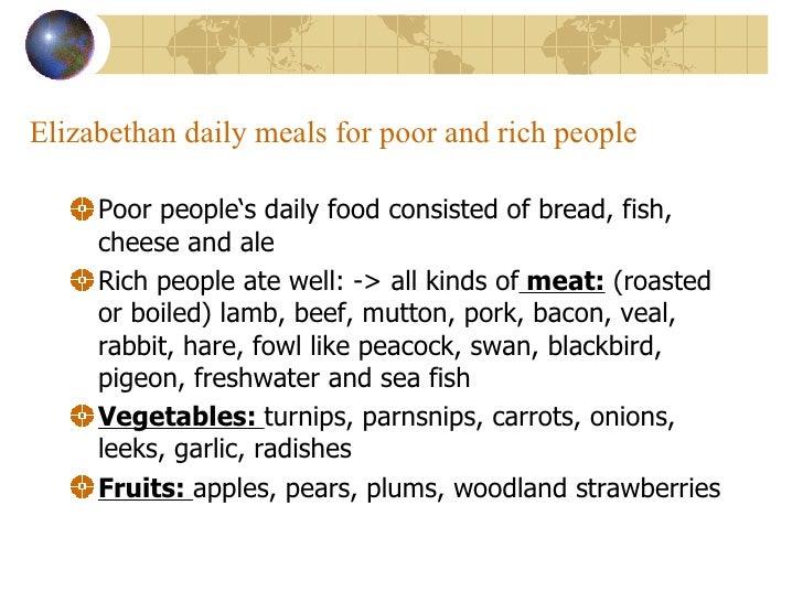 elizabethan era food and drink