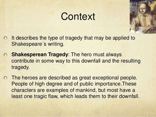 Classical tragedies and elizabethan tragedies