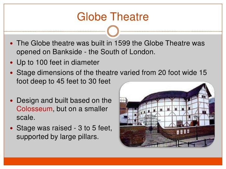 an essay on globe theater A tour through the movie palaces and legitimate theatres of downtown los  angeles explore the  essaythe globe theatre under construction for many.